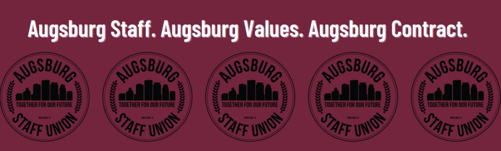 Header: Agusburg Staff. Augsburg Values. Augsburg Contract.